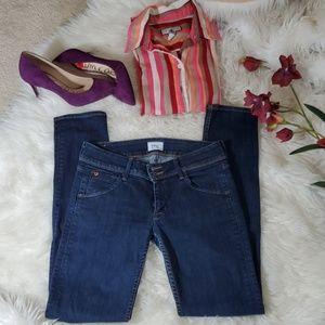 HUDSON Collin Skinny Jeans Back Flap Pockets Sz 27